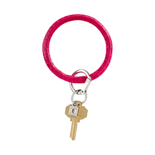 Big O Key Ring - Pink Topaz Croc