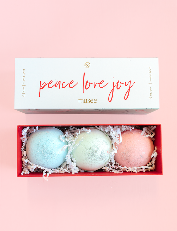 Musee Bath Balm  - Peace, Love, Joy Gift Set