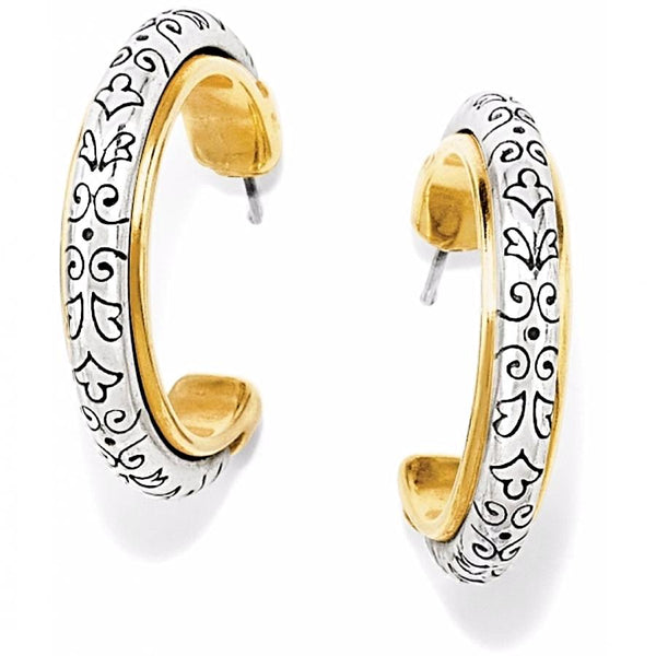 Brighton Silver/Gold Venezia Hoop Earrings - G9270