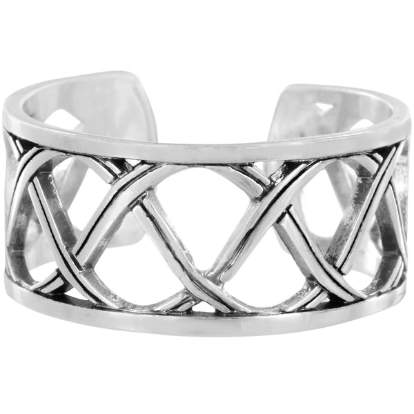 Brighton Christo Sydney Narrow Silver Ring - J62540
