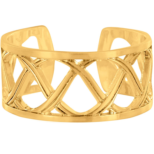 Brighton Christo Sydney Gold Narrow Ring - J62545