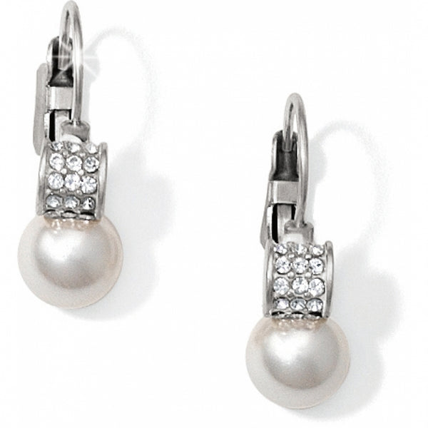 Brighton Meridian Petite Pearl Leverback Earrings - JA1302