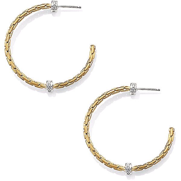 Brighton Meridian Orbit Gold Hoop Earrings - JA2495