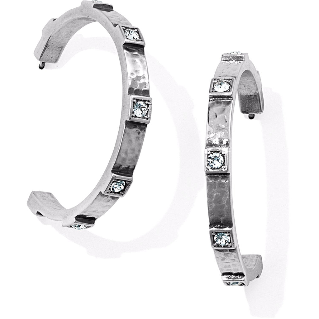 Brighton Meridian Zenith Station Hoop Earrings - Silver, JA3901