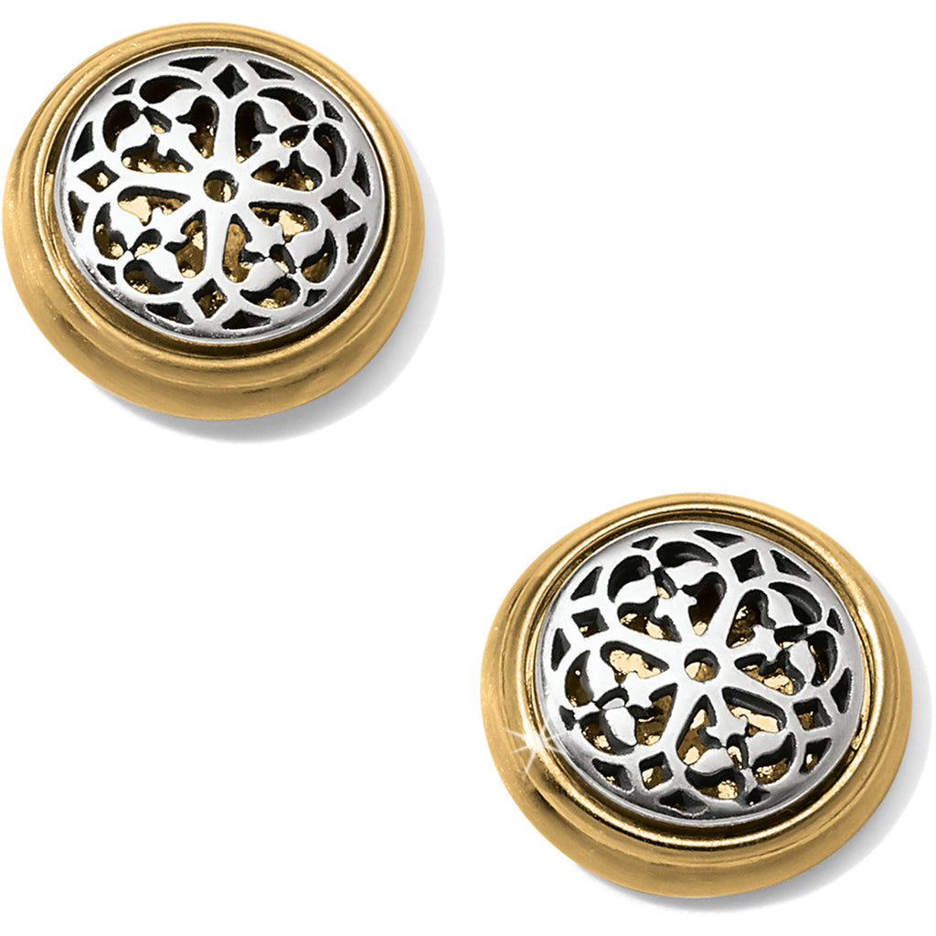 Brighton Ferrara Two Tone Post Earrings- JA5802