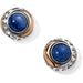 Brighton Neptune's Rings Brazil Blue Quartz Button Earrings - JA590B