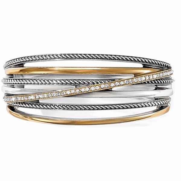 Brighton Neptune's Rings Wide Hinged Bangle - JF0111