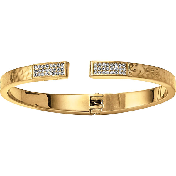 Brighton Meridian Zenith Gold Hinged Bangle - JF3705