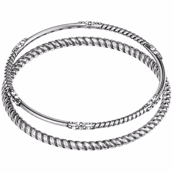 Brighton Neptune's Rings Rope Bangle Set - Silver, JF4270