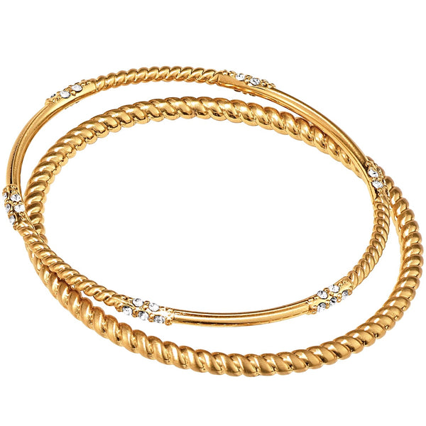 Brighton Neptune's Rings Rope Bangle Set - Gold, JF4275