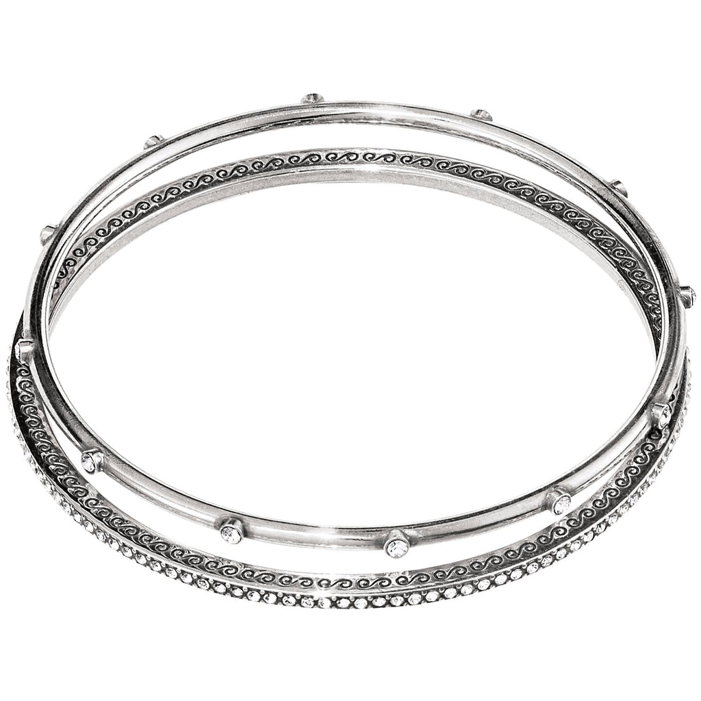 Brighton Neptunes Rings Silver Bangle Set - JF4280