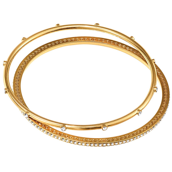Brighton Neptune's Rings Pave Bangle Set - Gold, JF4285