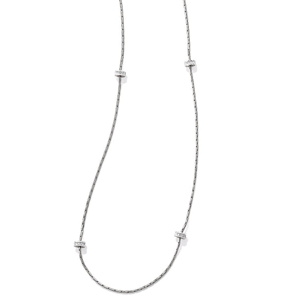 Brighton Meridian Orbit Silver Long Necklace - JL6181