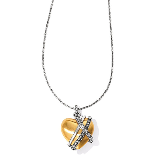 Brighton Neptune's Rings Gold Heart Necklace - JL7153
