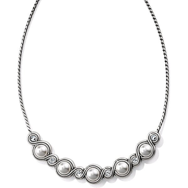 Brighton Infinity Sparkle Pearl Necklace - JL7864