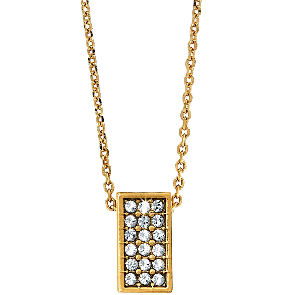 Brighton Meridian Zenith Square Necklace - Gold, JL8335