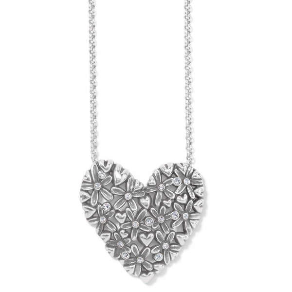 Brighton Wild Flowers Heart Necklace - JM4151