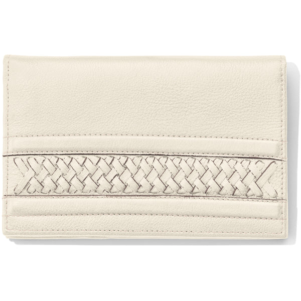 Brighton Santorini Folio Wallet, White - T35002