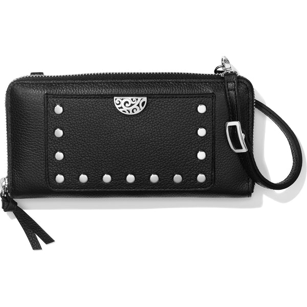 Brighton Rox Large Zip Wallet, Black - T35013