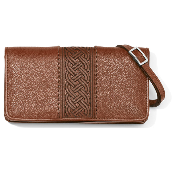 Brighton Interlock Large Wallet, Bourbon - T3541U