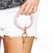 Big O Key Ring - Rose Gold Confetti Silicone