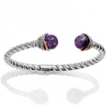 Brighton Neptune's Rings Black Agate Open Hinged Bangle - JF665B (Purple)