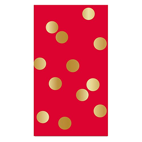 Copy of Guest Towel - Red w/Gold Foil Dots