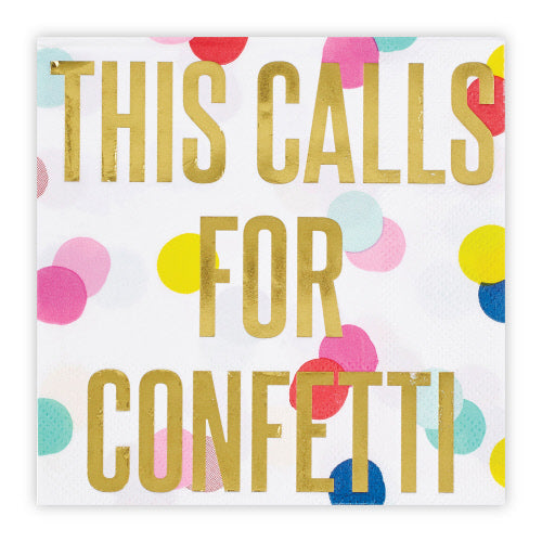 Beverage Napkin - This Calls For Confetti