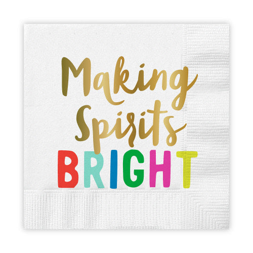 Cocktail Napkins - Making Spirits Bright