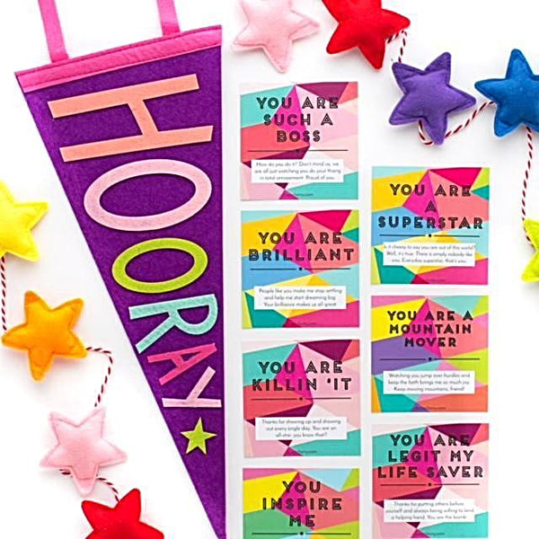 Cleerely Stated Compliment Cards - Spread The Joy