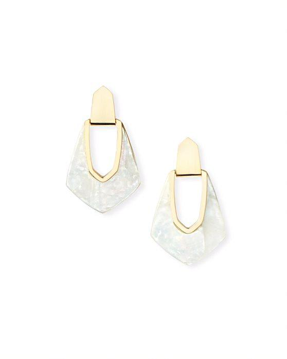 Kendra Scott Kensley Earrings - Gold Ivory MOP