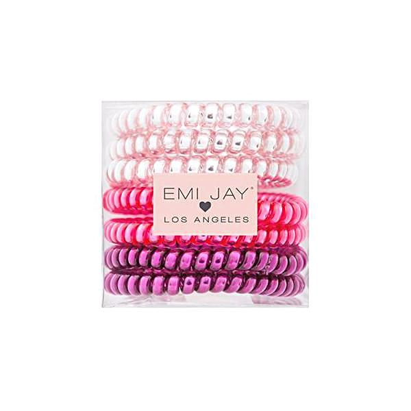 Emi Jay Twist Hair Ties Boxed Set Of 7 - Tickled Pink