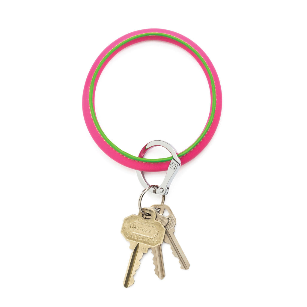 Big O Key Ring - Tickled Pink Leather
