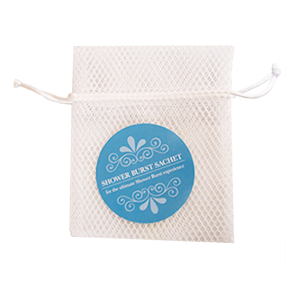 hydraAROMATHERAPY Mesh Shower Burst Sachet Bag