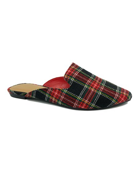 Prancer Plaid Mule - Red/Multi