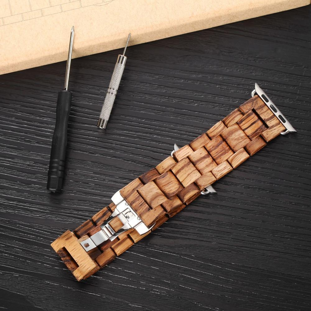WoodChuckChucked Apple Watch Bands The Sandalwoods Series - Wood Apple Watch Bands