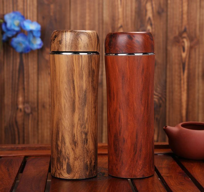 WoodChuckChucked container PREMIUM Wood & Stainless Steel Double Wall Insulation Cup