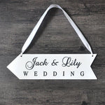 WoodChuckChucked Sign Personalized Wooden Wedding Directional Sign