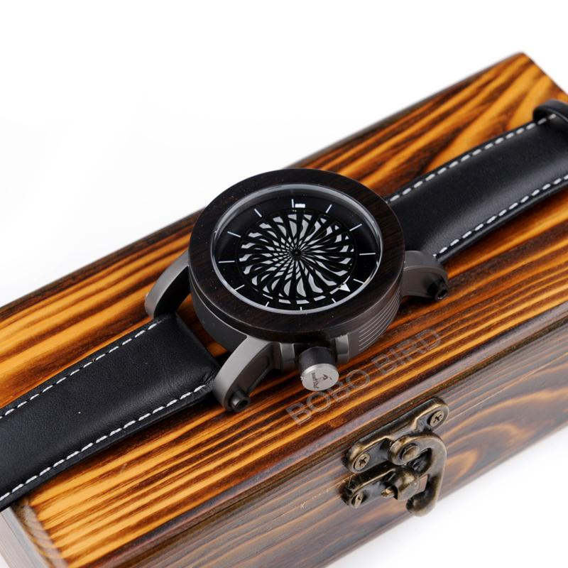 WoodChuckChucked Watch The Bossewood SELECT - PREMIUM Kinetic Art Mechanical Wooden Timepiece