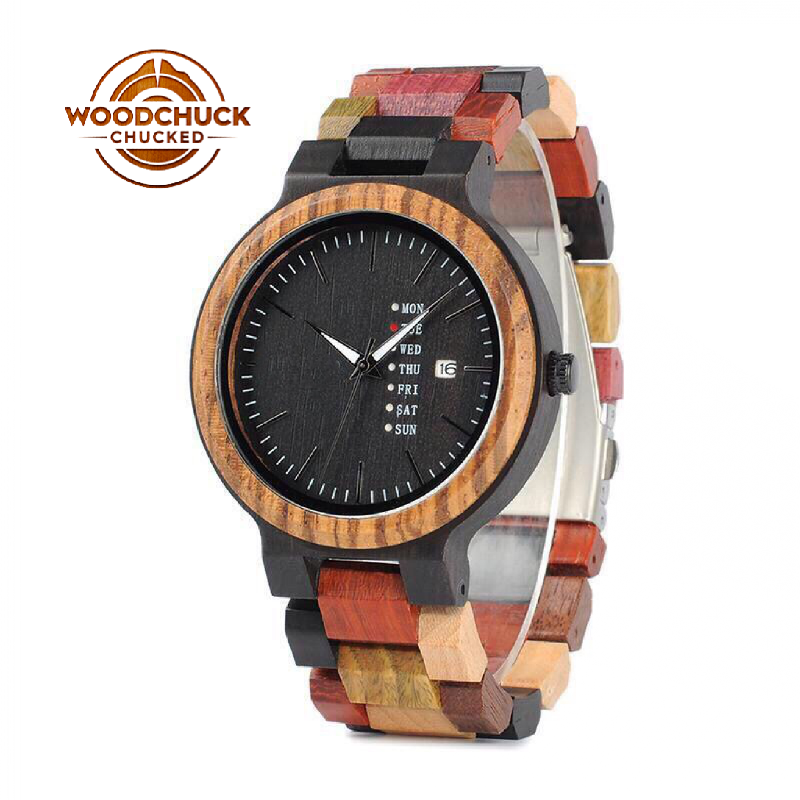 WoodChuckChucked Watch The Maple Chestnut - Handcrafted Wood Watch