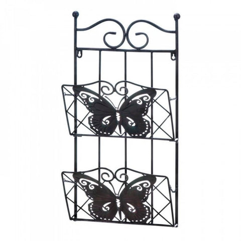 Butterfly 2-tier Magazine Wall Rack