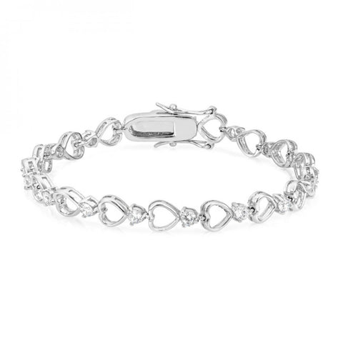 Linked Hearts Tennis Bracelet