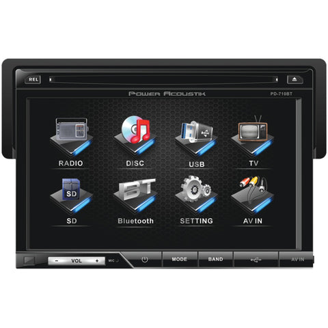 "Power Acoustik 7"" Single-din In-dash Lcd Touchscreen Dvd Receiver (with Bluetooth)"