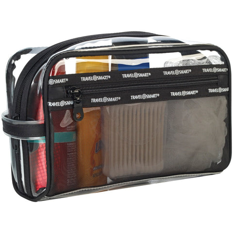 Travel Smart Transparent Sundry Pouch And Cosmetic Bag