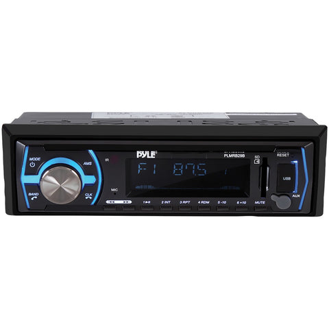 Pyle Single-din In-dash Digital Marine Stereo Receiver With Bluetooth (black)