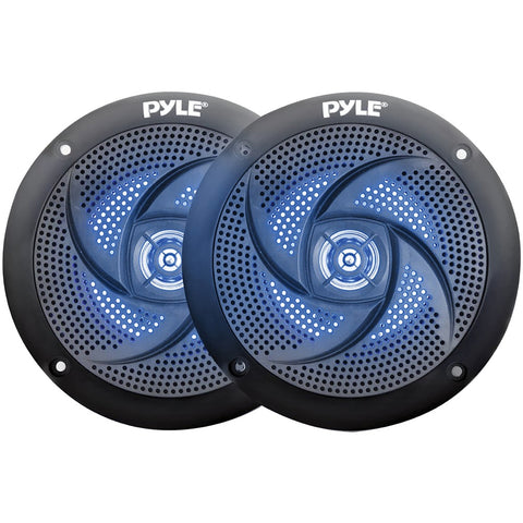Pyle 4-inch 100-watt Low-profile Waterproof Marine Speakers With Leds