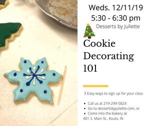 Cookie Decorating 101 - Weds 12/11/19 only