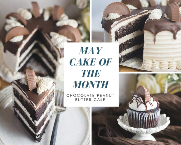 Chocolate Peanut Butter Cake - May Cake of the Month