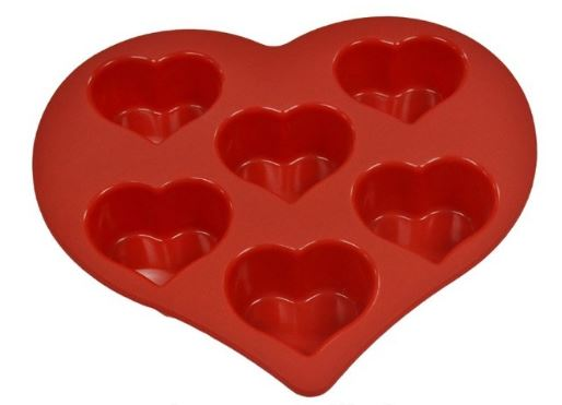 Heart-shaped Silicone Bake Ware Mold
