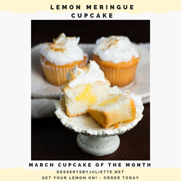 LEMON MERINGUE CUPCAKES - March Cupcakes of the Month